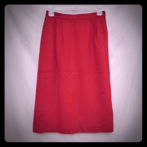 Vintage Red Pencil Skirt